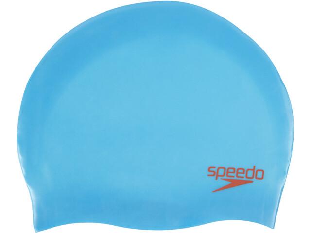 speedo Plain Moulded Badmössa Barn blå - till fenomenalt pris på ... 010600078def6